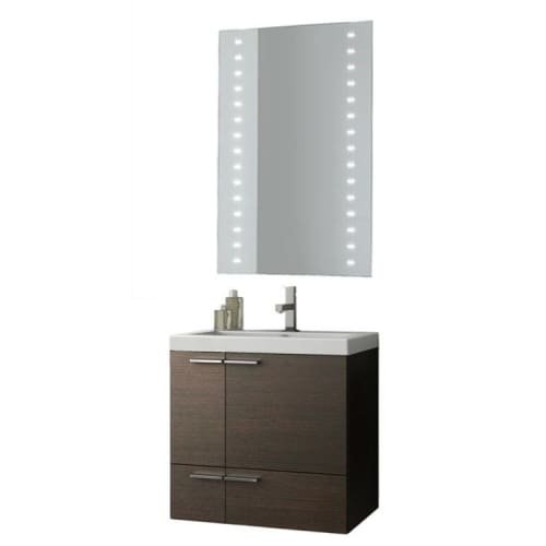 Nameeks ANS229 ACF 23-6/15″ Wall Mounted Vanity Set with Wood Cabinet, Ceramic T, Wenge