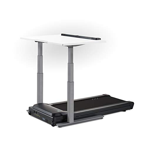 "LifeSpan TR1200-DT7 Treadmill Desk Silver Frame with 48"" Desktop - White"