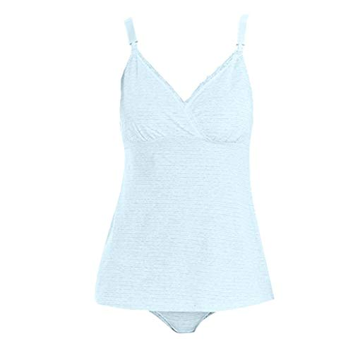 (YYVVAA Women Pregnant Lace Vest Nursing Baby for Maternity Sleeveless Clothes Tops Gray)