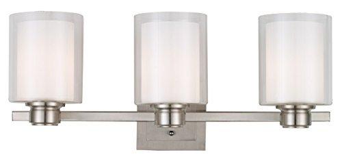Design House 556159 Oslo 3 Light Vanity Light, Satin Nickel by Design House - Oslo 3 Light Vanity