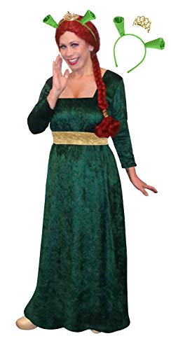 Plus Size Fiona Halloween Costume Dress Ears Crown 3pc Basic Kit 2X -