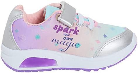 Chaussures de sport Elsa Anna pour filles Disney Escarpins avec lumi/ères clignotantes