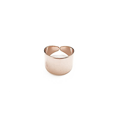 Thick Band 18k Rose (HONEYCAT 18k Rose Gold Plated Thick Wrap Open Band Ring | MadeWell Minimalist, Delicate)