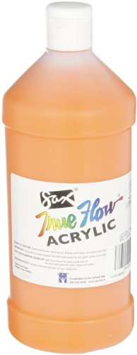 Sax True Flow Heavy Body Acrylic Paint, 1 Quart, Chrome Orange ()