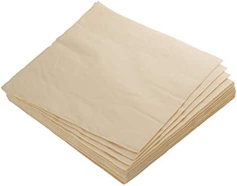 Exquisite 50 Pack of Beverage Paper Napkins The 2 Ply Party Napkins are Highly Absorbent of Vibrant Colors - Ivory Napkins