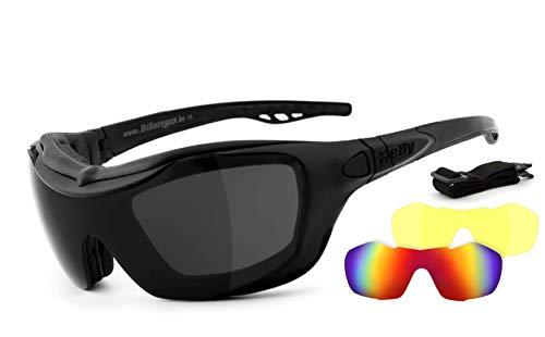 HELLY® – No.1 Bikereyes® | Motorradbrille, Multifunktionsbrille, Bikerbrille | beschlagfrei, winddicht | Wechselgläser…