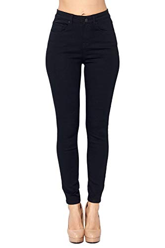 ICONICC Women's Skinny Jeans High Rise Solid Black Stretch (JP1098HA_BLK_5) ()