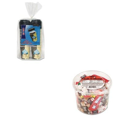 KITOFX00013SLOFSIC12J753PK - Value Kit - Solo Duo Shield Insulated Paper Hot Cups/Lids Combo Pack (SLOFSIC12J753PK) and Office Snax Soft amp;amp; Chewy Mix (OFX00013) ()