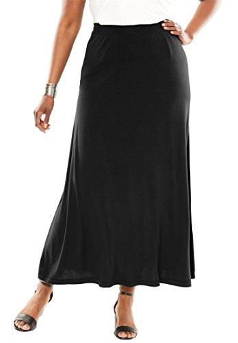 Jessica Tweed Skirt (Jessica London Women's Plus Size Maxi Skirt In Stretch Jersey Black,12)