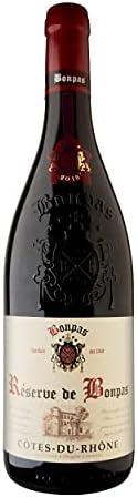 Bonpas Réserve A.O.C. Côtes-du-Rhône Vino Tinto - Provenza, Francia - Pack 3 Bot. 75 cl