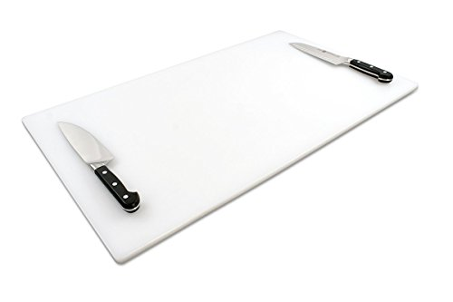 Commercial Plastic Cutting Board for Kitchens, Extra Large 30 x 18 x 0.5 Inch, NSF, FDA Approved