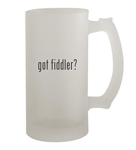 got fiddler? - 16oz Frosted Beer Mug Stein, Frosted