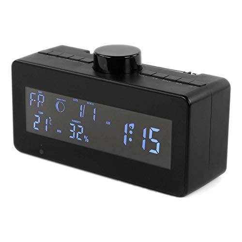 RecorderGear SC600W 1080P WiFi IP Digital Reloj Cámara Nanny Oculta con Lente Giratoria 330°, Wireless Home Security CAM,...
