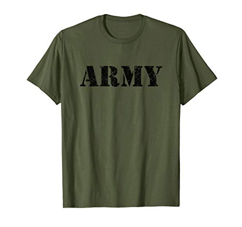 Vintage USA Army T Shirt | Military Green US Retro Logo Gift T-Shirt