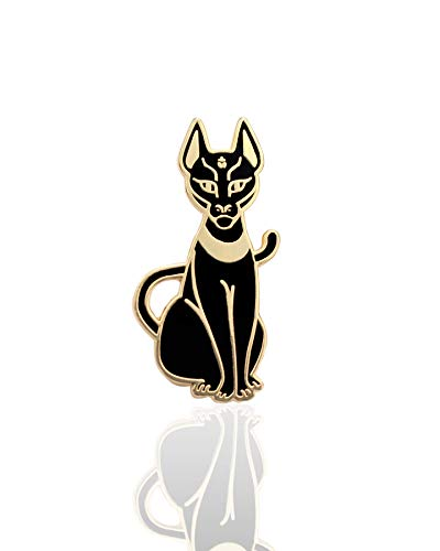 Mau Hard Enamel Pin Egyptian Cat Fashion Accessory for Lapels, Denim Jackets, Hats, Bags, Dress Shirts