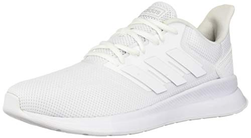adidas Women's Falcon Running Shoe, White/White/Black, 8 M US