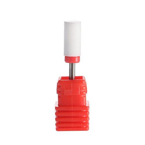 SpeTool Ceramic Nail Bits Drills Barrel Smooth Round Top 3/32
