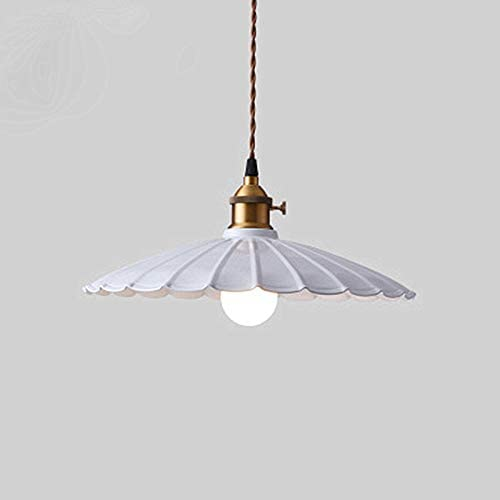 LAKIQ Colorful Indoor Single Pendant Light Lovely Scalloped Shade Mini Hanging Ceiling Lighting Metal Lights Pool Table Hanging Light