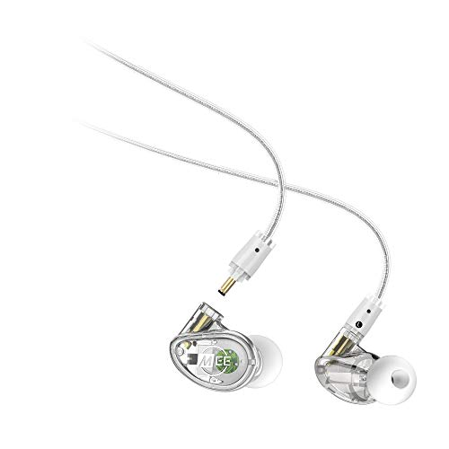 MEE Professional MX1 PRO Customizable Noise-Isolating Universal-Fit Modular Musician s in-Ear Monitors Clear