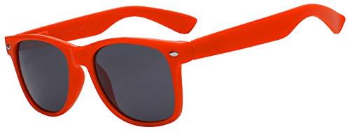 Red Frame Retro Classic Vintage Smoke Lens Sunglasses ()
