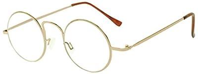 Vintage Round 44mm Classic Unisex Rx Optical Prescription Reading Glasses Positive Strength +1.00 - +3.50