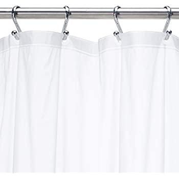 """54/"""" W x 78/"""" L Carnation Home Fashions Stall Size  Wide 5-gauge Shower Liner"""