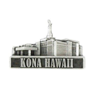 LDS Mens Kona Hawaii Temple Silver Steel Tie Tac / Tie Pin for Boys Ringmasters TTT285