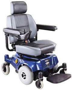 Compact Mid-Wheel Drive Power Chair, Blue with White Glove Service