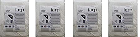 Item TRW-1225 Kotap America Ltd. Kotap 12-ft x 25-ft Heavy-Duty 12 by 12 Cross Weave 8-mil White Poly Tarp