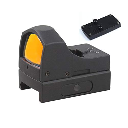 VECTOR OPTICS 1x22x25mm Compact Tactical Reflex Mini Red Dot Scope Sight and Glock Mount Base Combo fits Handgun Glock 17, Glock 19