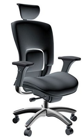 Gm-Seating-Ergonomic-Genuine-Leather-Executive-Hi-Swivel-Chair-Chrome-Base-with-Headrest