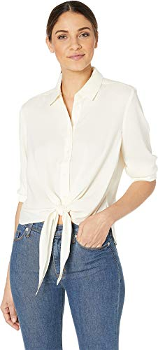 Juicy Couture Women's Tie Front Shirting Top Angel Small