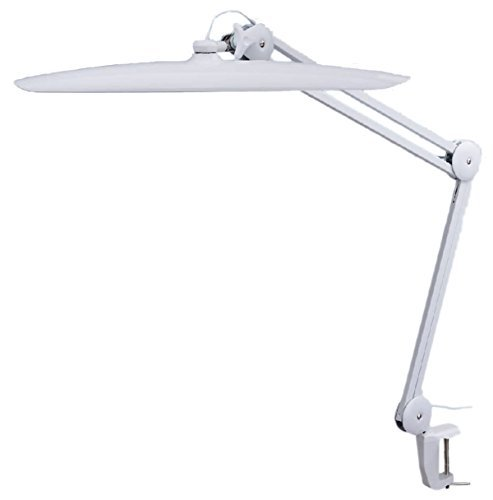 - TekLine 39501 Desk Clamp Task Lamp, White 100-LED Daylight