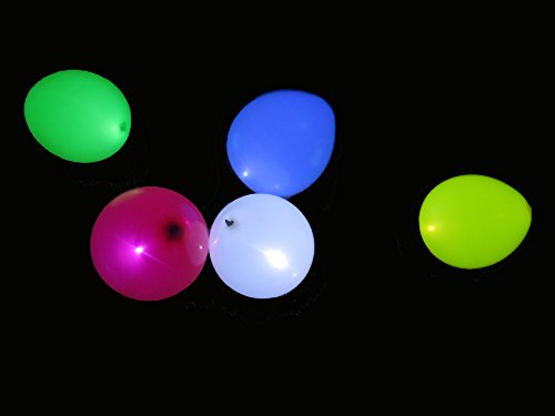 Hot Air Balloon Costume Instructions (Cutie Made Bright LED Balloons Party Flashing Light Balloons 15 Pieces)