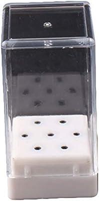 Tyrrdtrd - Caja de 7 agujeros para taladro de uñas, soporte de almacenamiento para cabezal de molienda: Amazon.es: Belleza