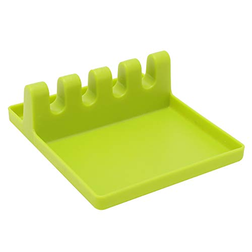 chen Utensil Rest,Ladle Spoon Holder for Kitchen/Stove Top,Cooking Spoon Holder (Green) ()