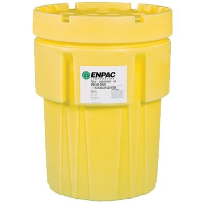 Polyethylene Enpac Poly-Overpack Salvage Drums, Yellow - Drum-Poly Overpack 110 Gallon
