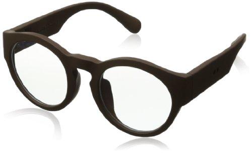 grafik:plastic Glow Wayfarer Eyeglasses,Choco & Clear,51 mm by grafik:plastic