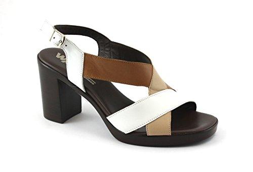 Sangle Bianco Femmes Blanches de Sandales Bandes Talon MELLUSO R8520E de Chaussures CqCg4