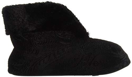 Black Slipper Embossed Dearfoams Velour Women's Bootie x6RqOOvT