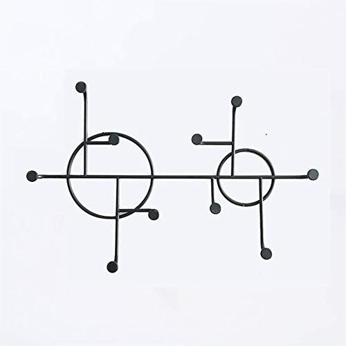 Coat rack,Wall-mounted/Metal Iron art/Simple/Nordic design/Creative Decor/Space-Saving/For Entrance/bedroom/living room/Multifunctional Coat rack