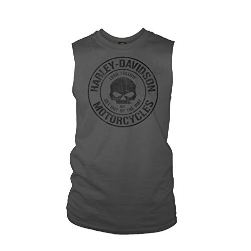 Harley-Davidson Military - Men's Charcoal Sleeveless Pocket T-Shirt - Baghdad | Decree 2X-Large