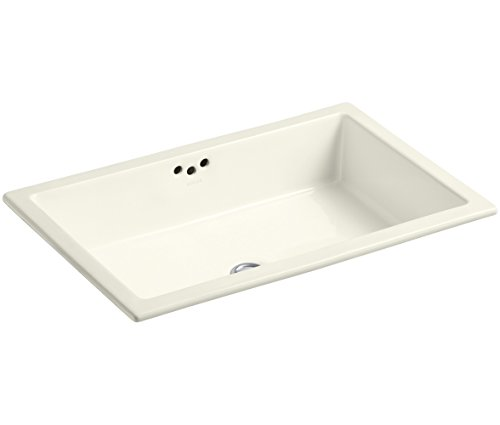 KOHLER K-2297-96 Kathryn Undercounter Bathroom Sink, Biscuit
