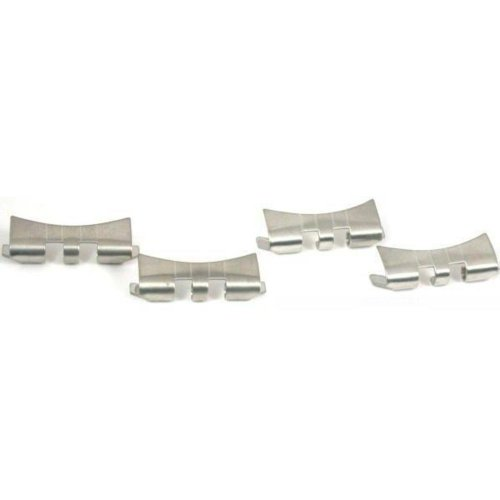 4 Slit Watch Band Ends Pieces Stainless Steel 20mm