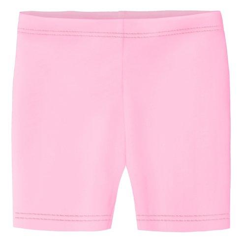 City Threads Little Girls Underwear Bike Shorts in All Cotton Perfect for SPD and Sensitive Skin Sports Dance School Uniform, Pink 3T