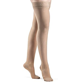 SIGVARIS Womens EVERSHEER 780 Closed Toe Thigh High w/Grip-Top 15-20mmHg