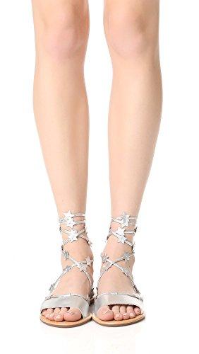 Sandal Women's Starla LOEFFLER Flat RANDALL Silver 6HqnxzIZ