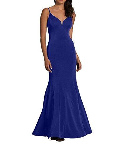 V Langes Blau Abschlussballkleider Royal Traeger Meerjungfrau Ausschnitt Partykleider Kleid mia Ballkleider Spaghetti La Fesltichkleider Abendkleider Brau xZwtBqEA