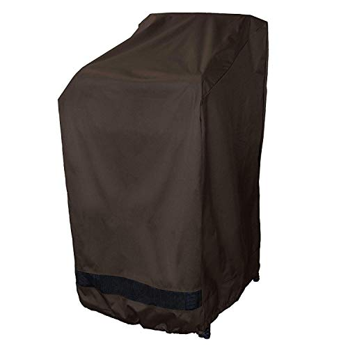 True Guard Patio Furniture Covers Waterproof Heavy Duty – Stackable Patio Chair Cover, 600D Rip-Stop, Fade/Stain/UV Resistant for Outdoor Patio Furniture, Dark Brown