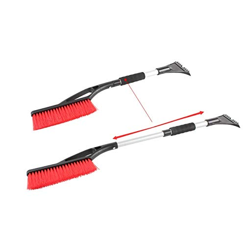 BEESCLOVER Car Styling 2 in 1 Auto Retractable Removal Brush Shovels Scrapers Winter Car Snow Ice Scraper Clean Tool Show